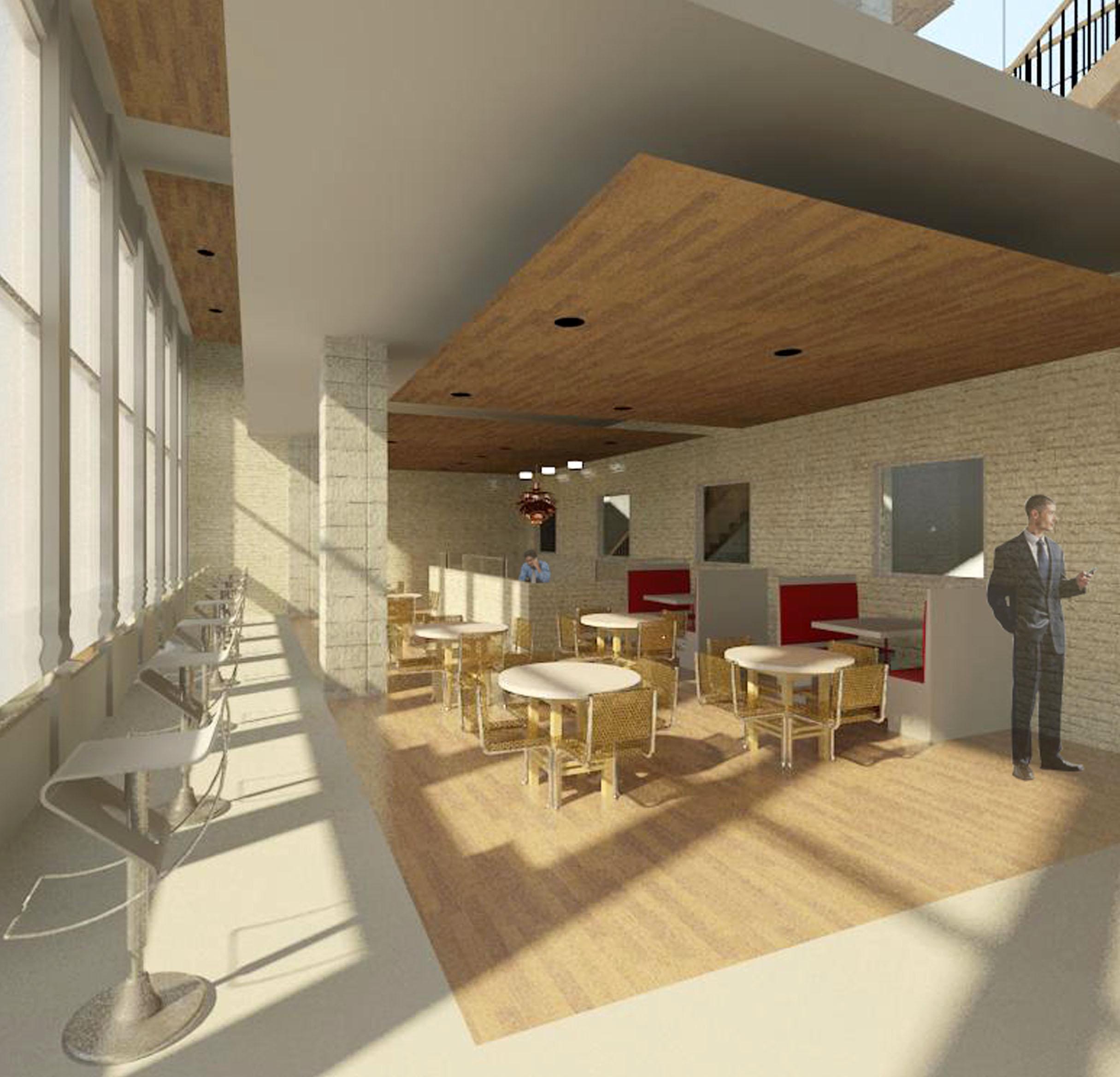 Architectural Rendering Design Consulting Architecture Digital Library Interior
